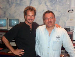 GMH and Arturo Gomez at KUVO radio studios, Denver